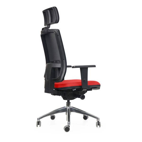 cadeira de escritório certificada Icon presidente Alumínio