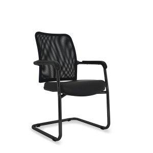 cadeira de escritório Director Fixa Preta