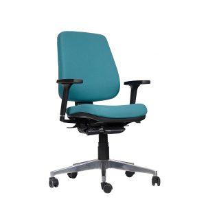 cadeira de escritório Tech Plus Presidente Alumínio
